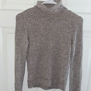 Me to We Long Sleeve Cropped Turtleneck Sweater